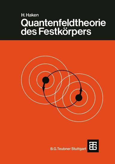 Quantenfeldtheorie des Festk  rpers PDF
