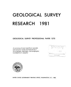 Geological Survey Research 1981