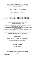 The Complete Works in Verse and Prose of George Herbert     PDF