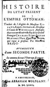 Histoire De Le'tat [!] Present De L'Empire Ottoman