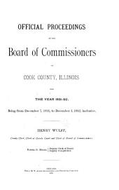 Official Proceedings of the Board of Commissioners of Cook County, Illinois ...