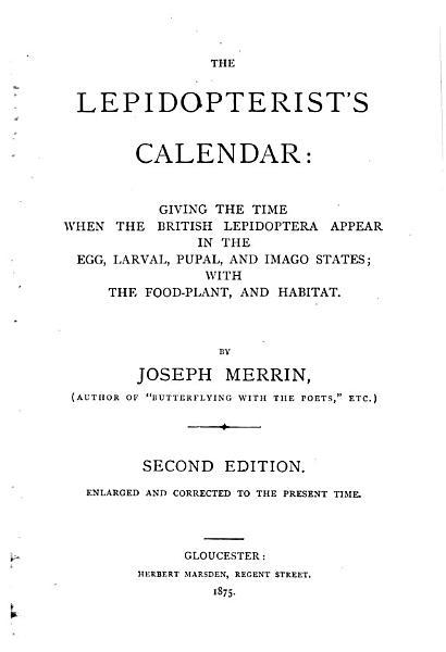 Download The Lepidopterist s Calendar Book