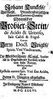 Chymischer Probier Stein  de acido et    urinoso  sale calid  et    frigid PDF
