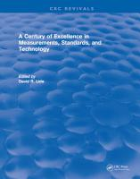 A Century of Excellence in Measurements  Standards  and Technology PDF