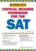 Critical Reading Workbook for the SAT Book
