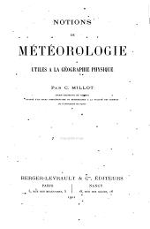 Notions de metéorologie utiles a la géographie physique