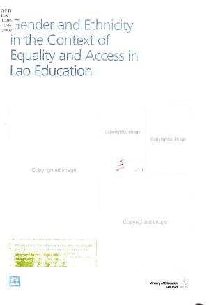Gender and Ethnicity in the Context of Equality and Access in Lao Education PDF
