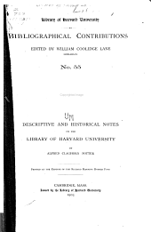 Descriptive and Historical Notes on the Library of Harvard University PDF