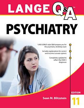 Lange Q A Psychiatry  11th Edition PDF