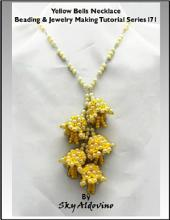Yellow Bells Necklace Beading & Jewelry Making Tutorial Series I71
