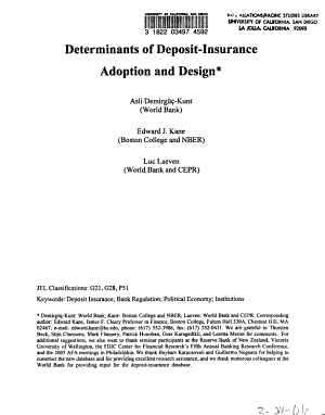 Determinants of Deposit insurance Adoption and Design PDF