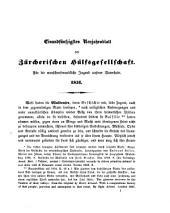 Neujahrsblatt der Hülfsgesellschaft in Zürich: auf d. Jahr ...