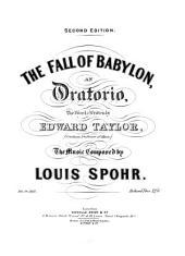 The fall of Babylon: an oratorio