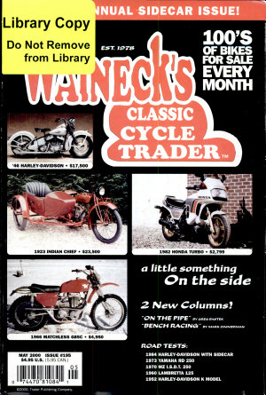 WALNECK S CLASSIC CYCLE TRADER  MAY 2000 PDF