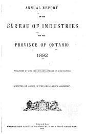 Annual Report of the Bureau of Industries for the Province of Ontario