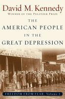 The American People in the Great Depression PDF