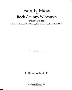 Family Maps of Rock County  Wisconsin