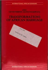 Transformations of African Marriage PDF