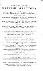 The Universal British Directory of Trade, Commerce, and Manufacture,
