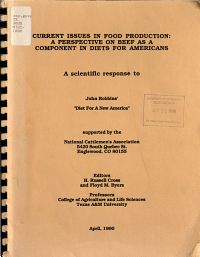 Current Issues in Food Production PDF