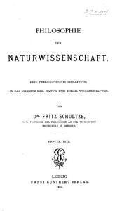 Philosophie der Naturwissenschaft PDF