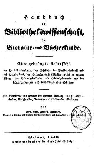 Handbuch der Bibliothekswissenschaft PDF