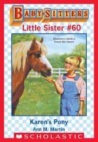 Karen s Pony  Baby Sitters Little Sister  60  PDF