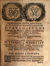 Epistolae secretae: ad principem suum Augustum ...