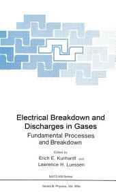 Electrical Breakdown and Discharges in Gases: Part A Fundamental Processes and Breakdown