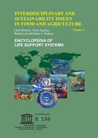 Interdisciplinary and Sustainability Issues in Food and Agriculture   Volume I PDF