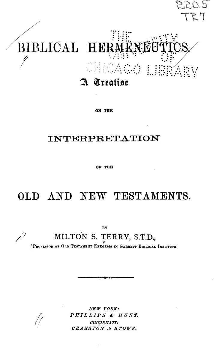 Biblical Hermenutics