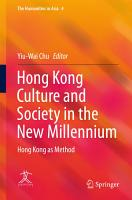 Hong Kong Culture and Society in the New Millennium PDF