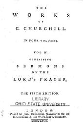 The Works of C. Churchill: Volume 4