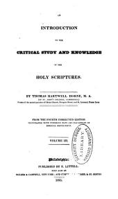 An Introduction to the Critical Study and Knowledge of the Holy Scriptures: Volume 3
