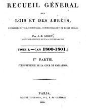 Recueil général des lois et des arrêts en matière civile, criminelle, commerciale et de droit public par J. B. Sirey