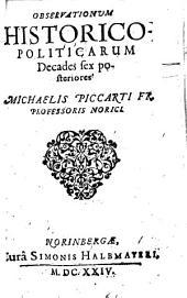 Observationes historico-politicae: Decades Sex Posteriores, Volume 2
