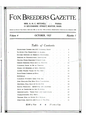 Fox Breeders Gazette PDF