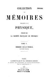 Collection de mémoires relatifs à la physique: Volume5