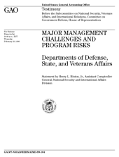 Major management challenges and program risks Departments of Defense, State, and Veterans Affairs
