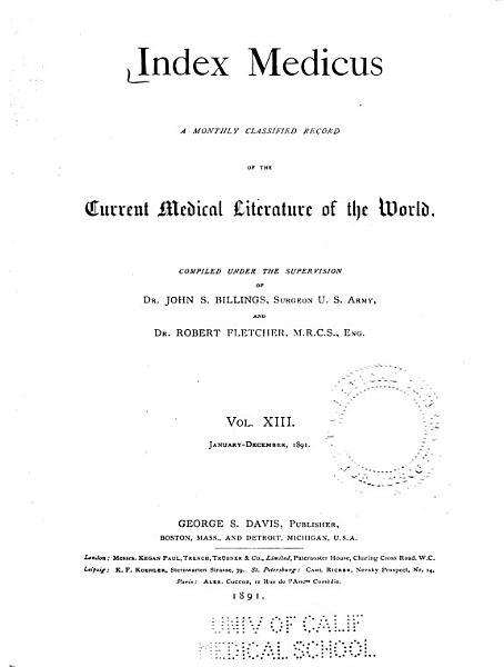 Download Index Medicus Book