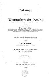 Vorlesungen über die Wissenschaft der Sprache: Band 1
