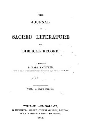 Journal of Sacred Literature PDF