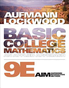 Basic College Mathematics  An Applied Approach PDF