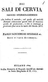 Dei Sali di Cervia: Saggio storico-chimico