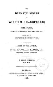 The Dramatic Works of William Shakspeare: King Lear. Romeo and Juliet. Hamlet. Othello