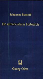 De abbreviaturis Hebraicis liber novus et copiosus