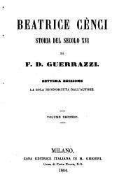 Beatrice Cènci: Storia del secolo XVI.