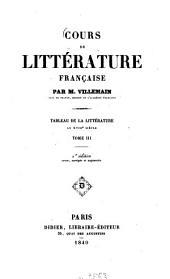 Cours de littérature française: Tableau de la littérature au XVIIIe siècle, Volume3