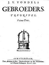 J. v. Vondels Gebroeders: Treurspel