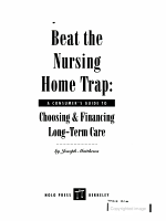 Beat the Nursing Home Trap PDF